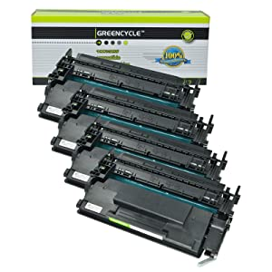 GREENCYCLE 4 Packs Compatible 26X CF226X Black High Yield Toner Cartridge for HP Laserjet Pro M402 M426 Laserjet Pro M402dn M402n M402dw MFP M426fdw M426fdn M402d MFP M426dw Printers 9000 Pages