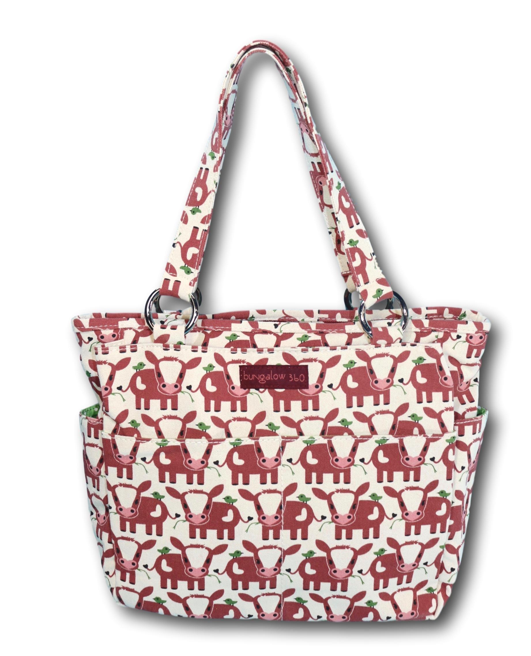 Bungalow 360 Pocket Bag Purse (Cow)
