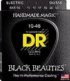 DR Strings Electric Guitar Strings, Black Beauties - Black Coated, 10-46