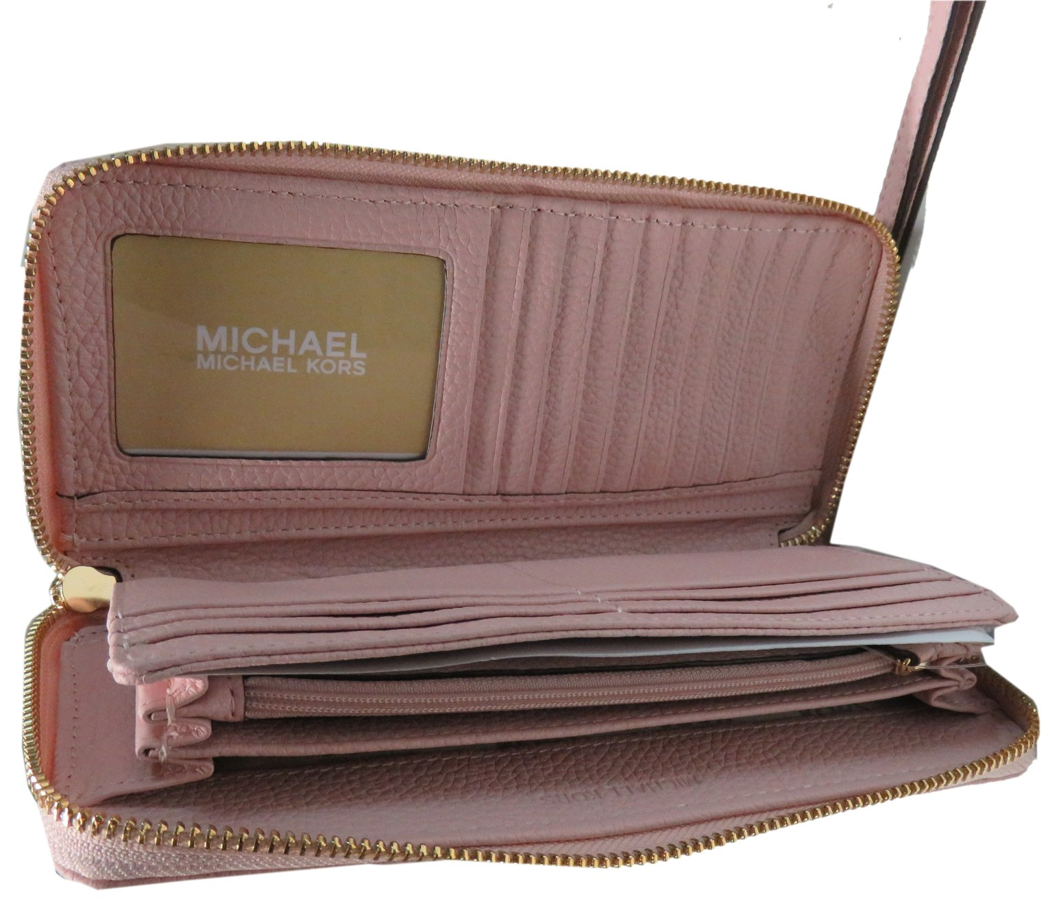 Micheal Kors Jet Set Continental Leather Travel Wallet Wristlet Blossom Pink by Michael Kors (Image #2)