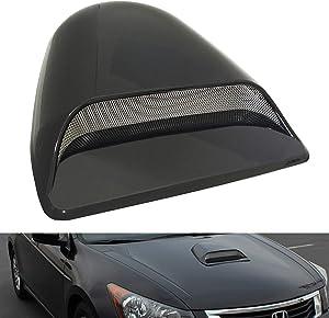 CK Formula Universal Hood Scoop Dark Smoke Top Cover Black Waterproof Air Flow Intake Vent Cover for Car Auto