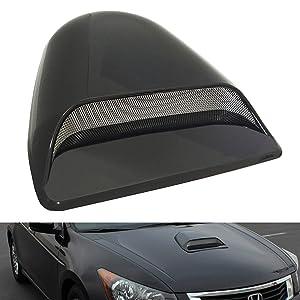 CK Formula Universal Decorative Hood Scoop Dark Smoke Black Waterproof Air Flow Intake Vent Cover for Vehicle Car Auto