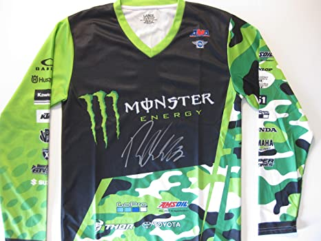 Image Unavailable. Image not available for. Color  Ryan Villopoto Supercross  Motocross signed autographed Monster Energy Jersey ... 86189fb18