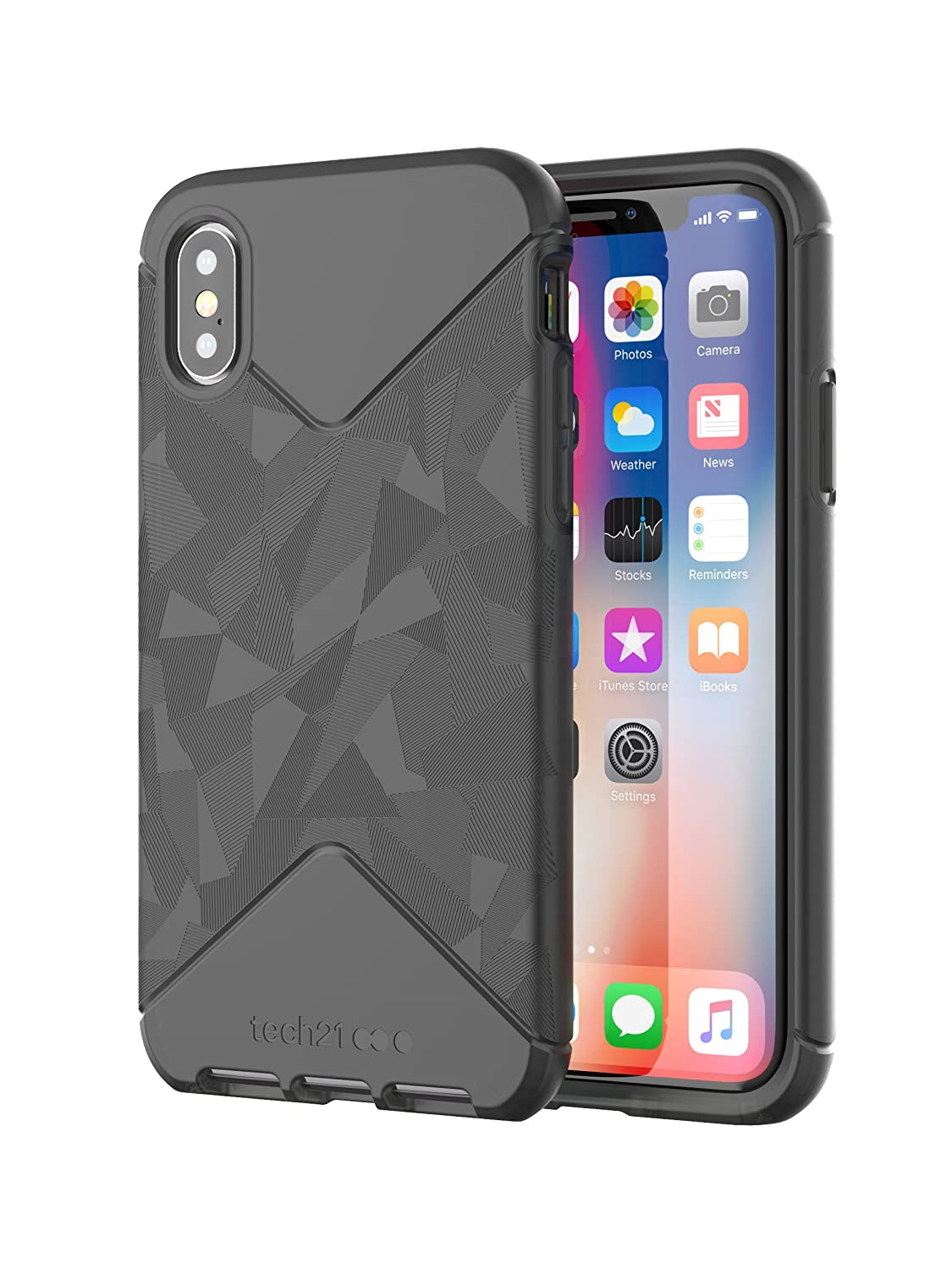 low priced 155e4 abbf5 tech21 - Phone Case Compatible with Apple iPhone X - Evo Tactical - Black