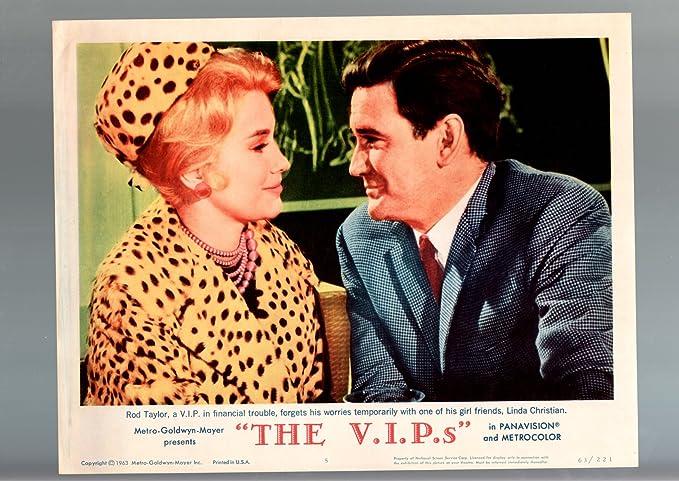 Amazon com: MOVIE POSTER: THE V I P 'S-1963-LOBBY CARD-FN/VF