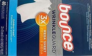 Bounce Wrinkle Guard Mega Sheet Outdoor Fresh 40 Sheets per Box