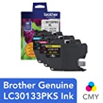 Brother Genuine LC30133PKS 3-Pack High Yield Color Ink Cartridges, Page Yield Up to 400 Pages/Cartridge, Includes Cyan...