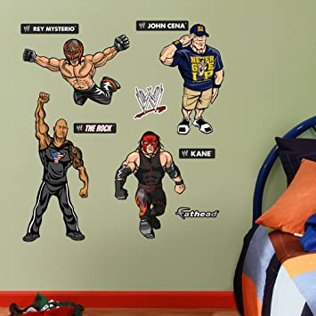 Fathead Wall Decal, WWE Kids Cena Rock Kane Mysterio Junior  Collection