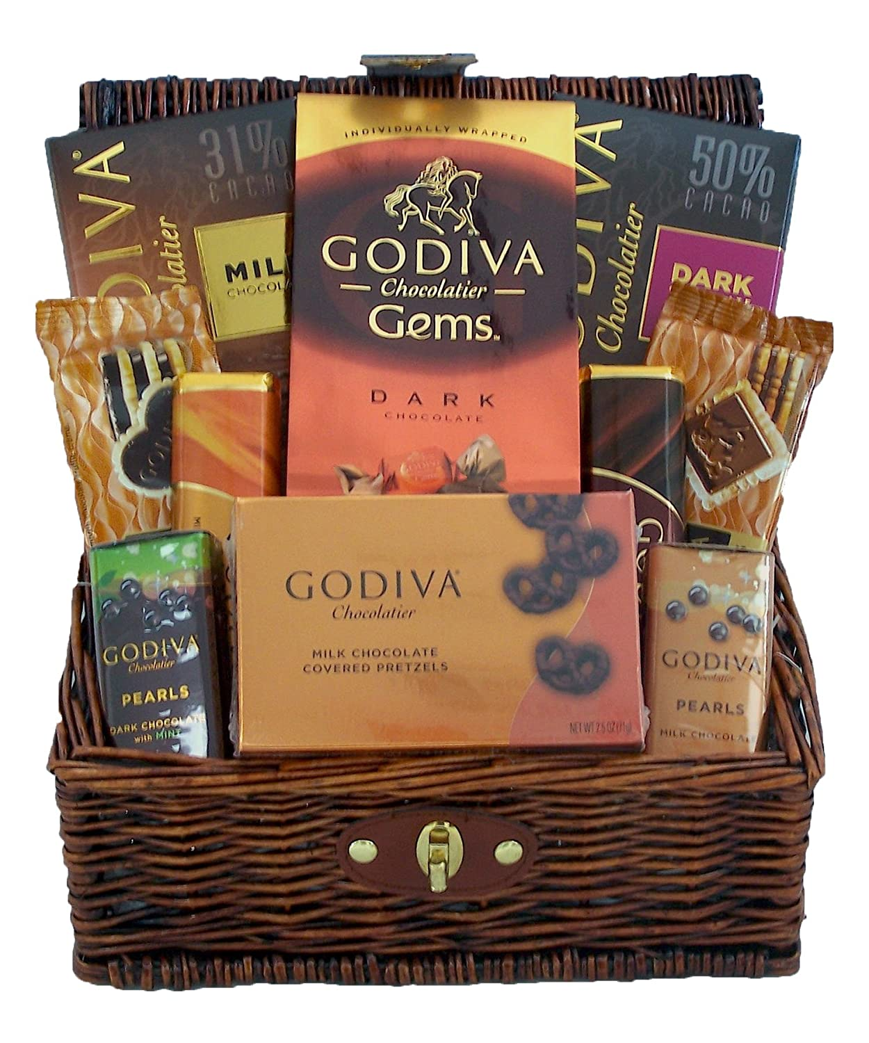 Amazon.com : Godiva Chocolates Lovers Gourmet Holiday Gift Basket ...