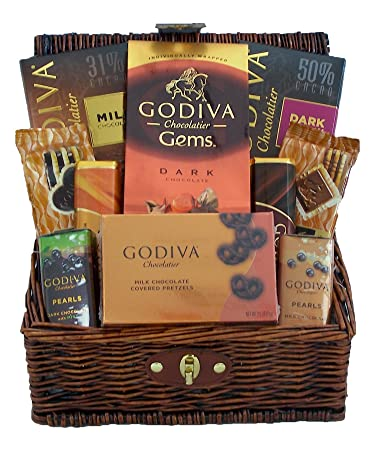 godiva chocolates lovers gourmet holiday gift basket