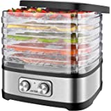 OSTBA Food Dehydrator Machine Food Dryer Dehydrator for Beef Jerky, Fruits, Vegetables, Adjustable Temperature Control…