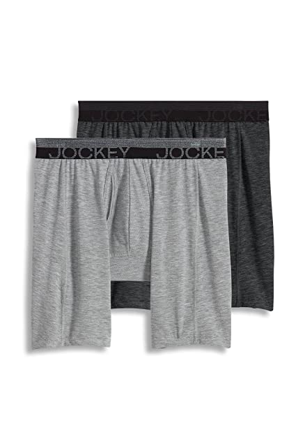 710107b8156e Jockey Men's Underwear Sport Outdoor Midway Brief - 2 Pack, Dark Grey  Heather/Light Grey Heather, S at Amazon Men's Clothing store: