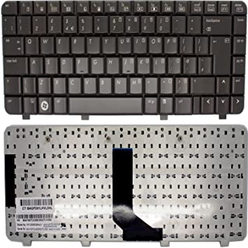 HP Pavilion dv2540ev dv2540tx UK teclado para ordenador portátil marrón oscuro sin marco: Amazon.es: Electrónica