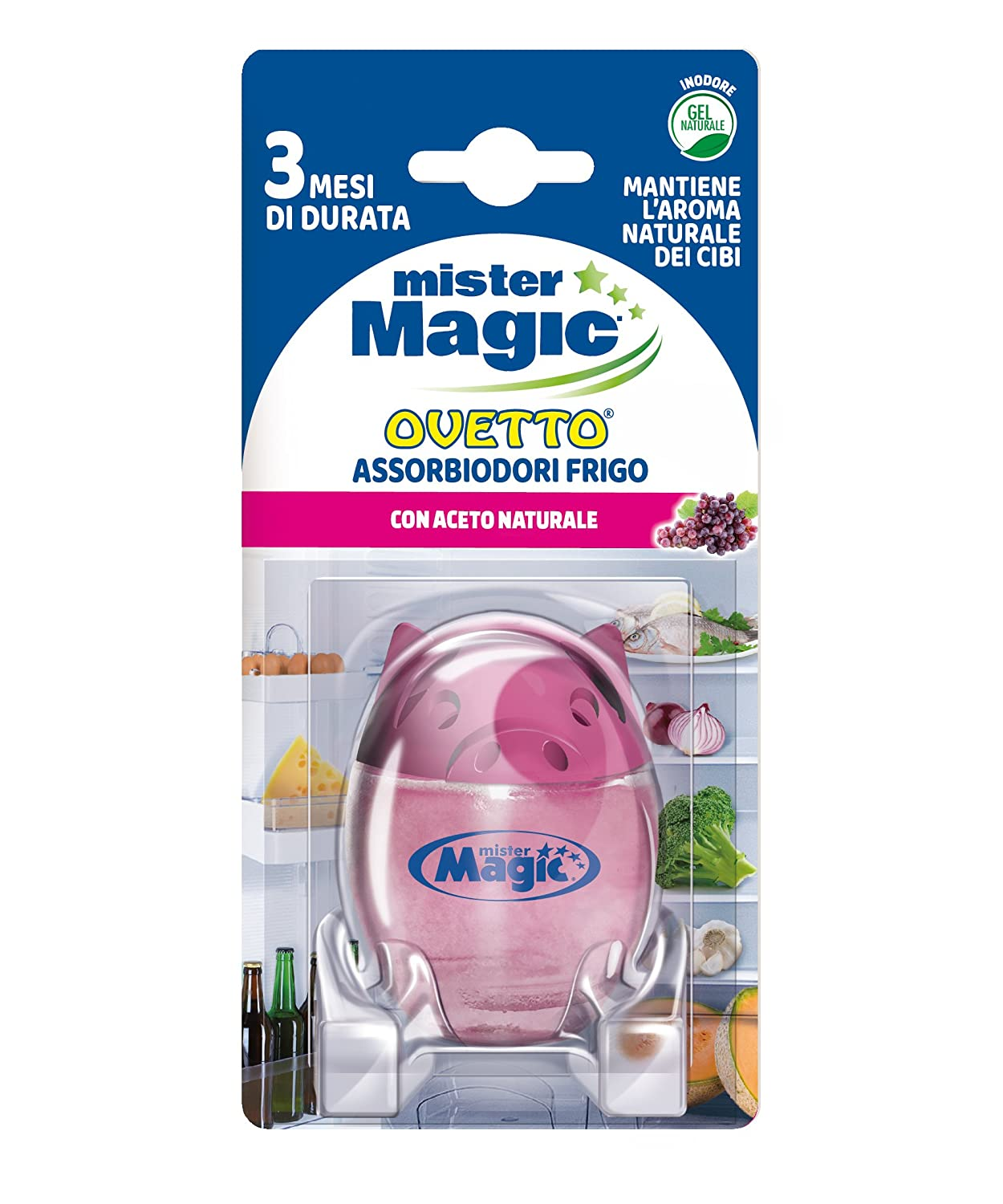Mister Magic - Absorbe olores nevera, con vinagre Natural: Amazon ...