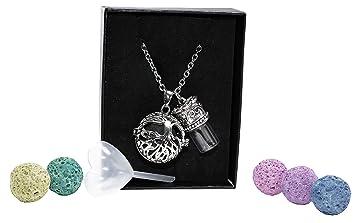 0eddced86 Amazon.com: Tree of Life Aromatherapy Necklace Gift Set with ...