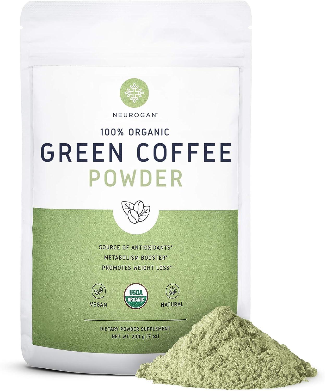 Amazon Com Neurogan Organic Green Coffee Bean Powder Extract With