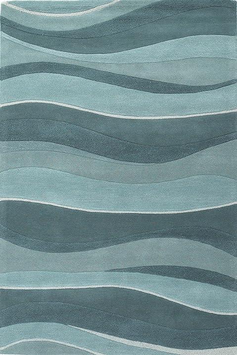KAS Eternity 5u0027 X 8u0027 Hand Tufted Wool Rug In Ocean