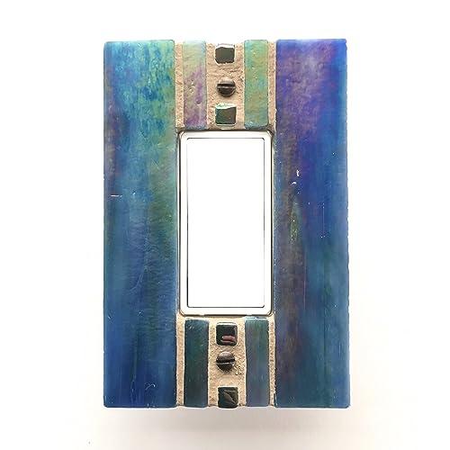 Amazoncom Iridescent Blue Switch Plate Decora Light Switch Cover
