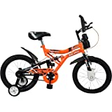 Mad Maxx Shocker 16T Steel Single Speed Road Cycle, 16 Inches For 5-7 Years(Neon Orange)