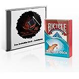 Zauberkasten: Das Invisible Deck + drei Profi-Kartentricks für Kinder und Erwachsene | Original Bicycle Deck | Madus-Magic