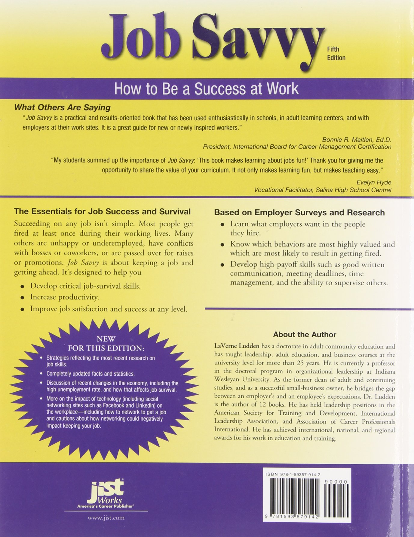 job savvy how to be a success at work laverne l ludden job savvy how to be a success at work laverne l ludden 9781593579142 amazon com books