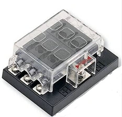 amazon com 6 way blade fuse box block holder circuit for auto rv rh amazon com
