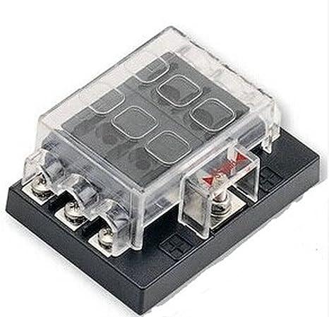 amazon com 6 way blade fuse box block holder circuit for auto rv rv battery box wiring 6 way blade fuse box block holder circuit for auto rv boat marine 12v 24v