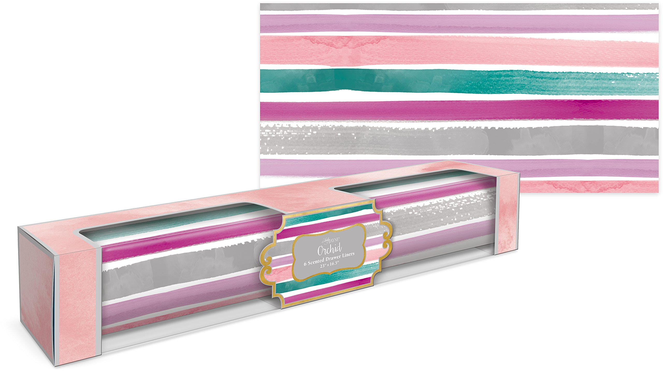 Lady Jayne Ikat Striped Orchid Scented Drawer Liners