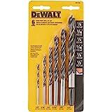 DEWALT Conjunto de brocas, ponta brad, 6 peças (DW1720), preto