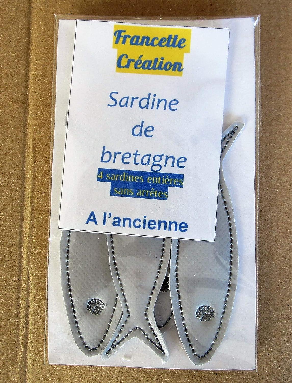 Sardine de Bretagne en toile cirée pour dînette