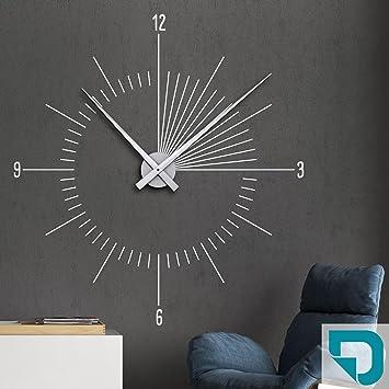 DESIGNSCAPE® Wandtattoo Uhr Moderne Zeit | Innovative Wanduhr 93 X 100 Cm  (B X