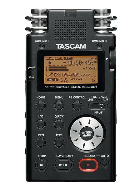 amazon com tascam dr100 portable digital recorder musical instruments rh amazon com
