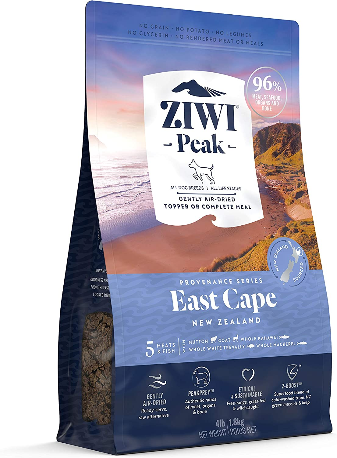 ZIWI Peak Provenance Air-Dried Dog Food – All Natural, High Protein, Grain Free with Superfoods