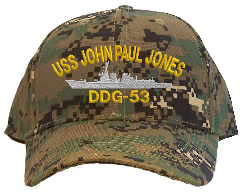 Amazon.com  USS John Paul Jones DDG-53 Embroidered Baseball Cap - Digital  Camo  Clothing d0e7f5e7960