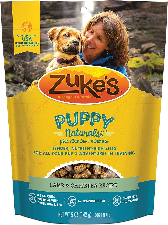 Zuke's Puppy Naturals Puppy Treats Lamb and Chickpea Recipe - 5 oz. Bag
