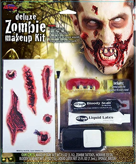 Amazon Com Zombie Deluxe Makeup Kit Toys Games