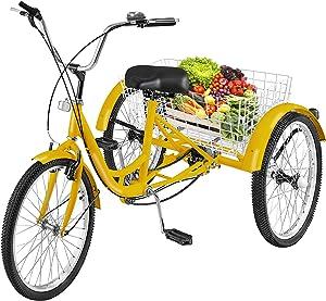Happybuy Single Three Wheel Bike Cruise Bike
