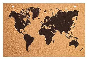 Kork Pinnwand Weltkarte 90x60cm Bedruckt Zum Aufhangen Ideal