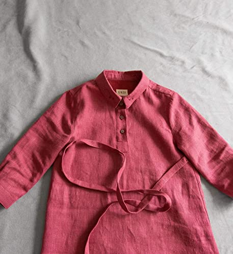 c0d84e0d31 Amazon.com  Burgundy berry natural heavy linen shirt style dress  Handmade