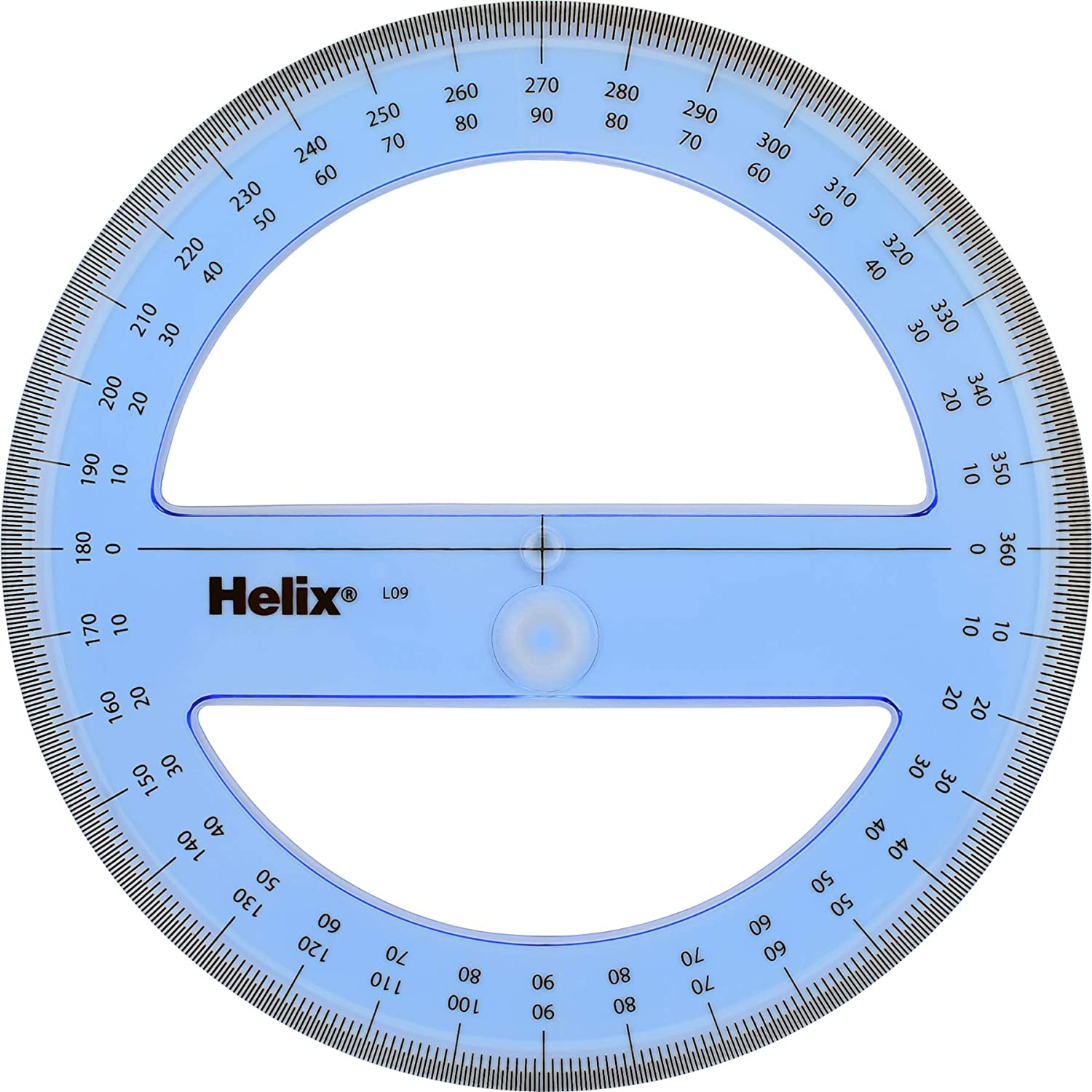 Plastic 360° 10cm Protractor with Swing Arm Drawing Measuring Tool 2pcs