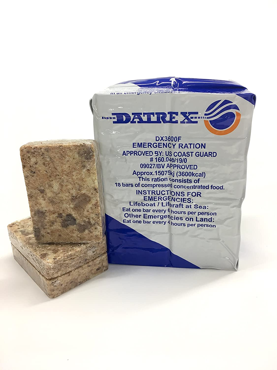 Datrex Emergency Survival 3600 Calorie Food Ration Bar, 18 Bars DX3600F-1