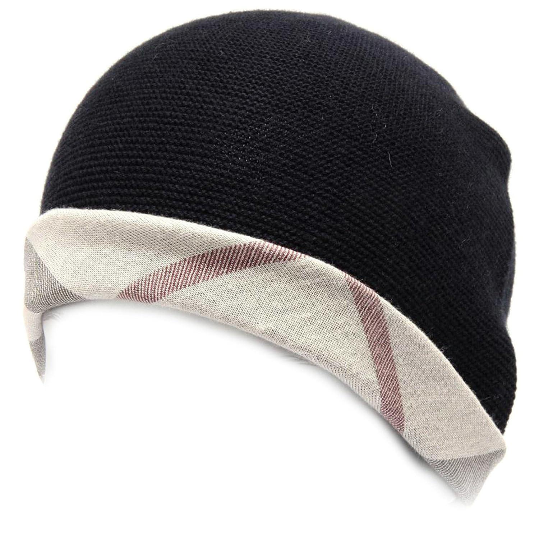 97703 gorro azul Burberry Check algodón Cachemira sombrero niño ...