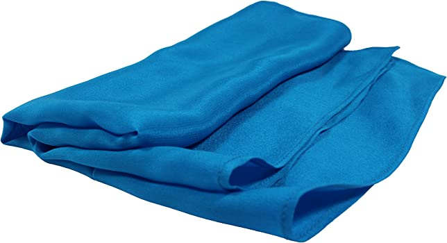 Full-Sized 16x16 Fine Teal Silk Pocket Square
