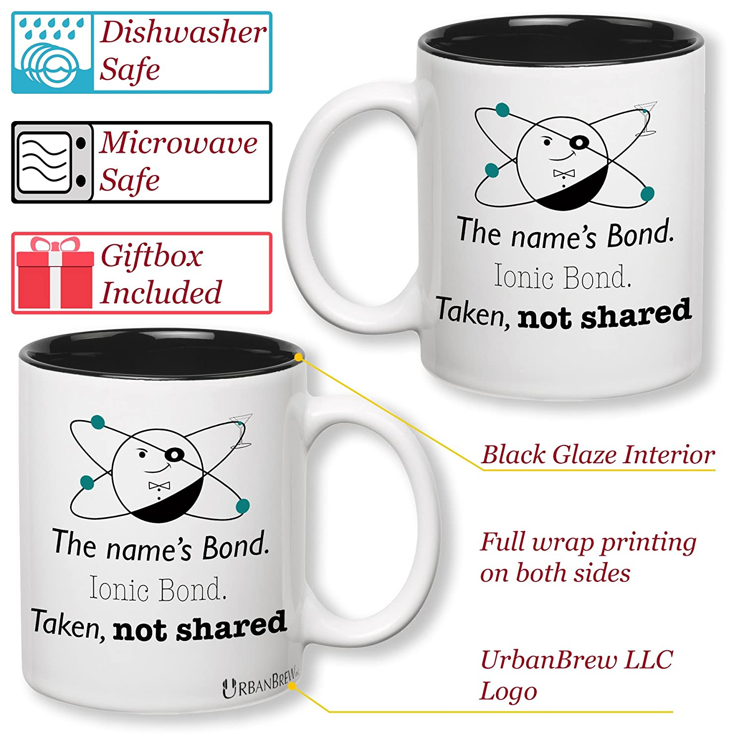 Amazon Science Chemistry Mug The name s Bond Ionic Bond