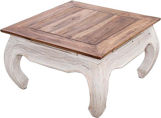 DuNord Design - Mesa de centro (60 cm, madera maciza, forma ...