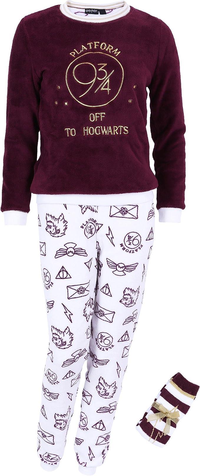 Harry Potter - Hogwarts - Pijama - para mujer - Small: Amazon.es ...