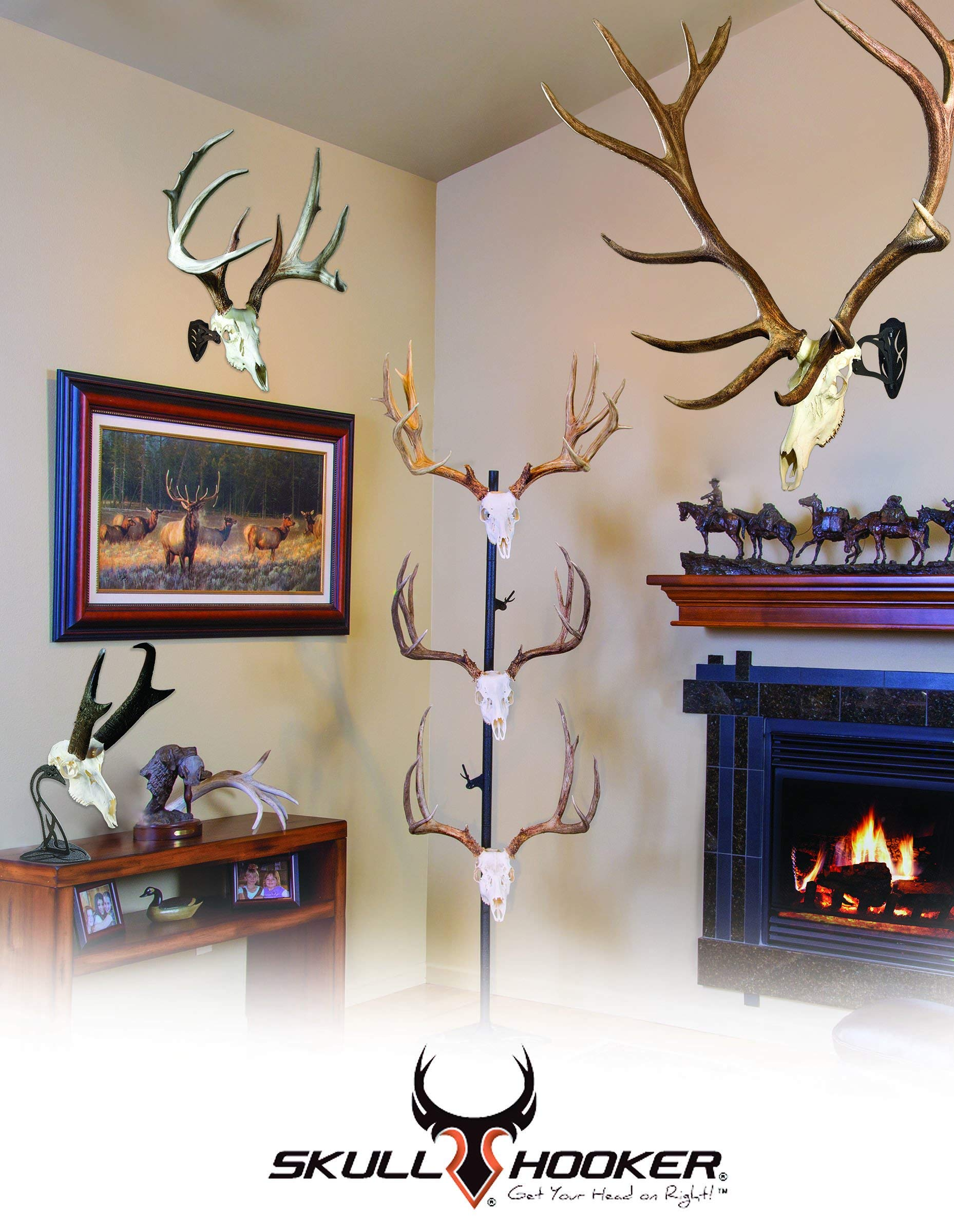 Skull Hooker Trophy Tree European Trophy Mount - Hang up to 5 Taxidermy Deer Antlers and other Skulls for Display - Graphite Black by Skull Hooker (Image #4)