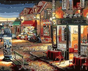 20 Pollici Fuumuui Fai-da-Te Fai-da-Te Pittura a Olio su Tela Regalo per Adulti Bambini dipingere da Numero Kit Decorazioni per la casa-Manhattan Park 16