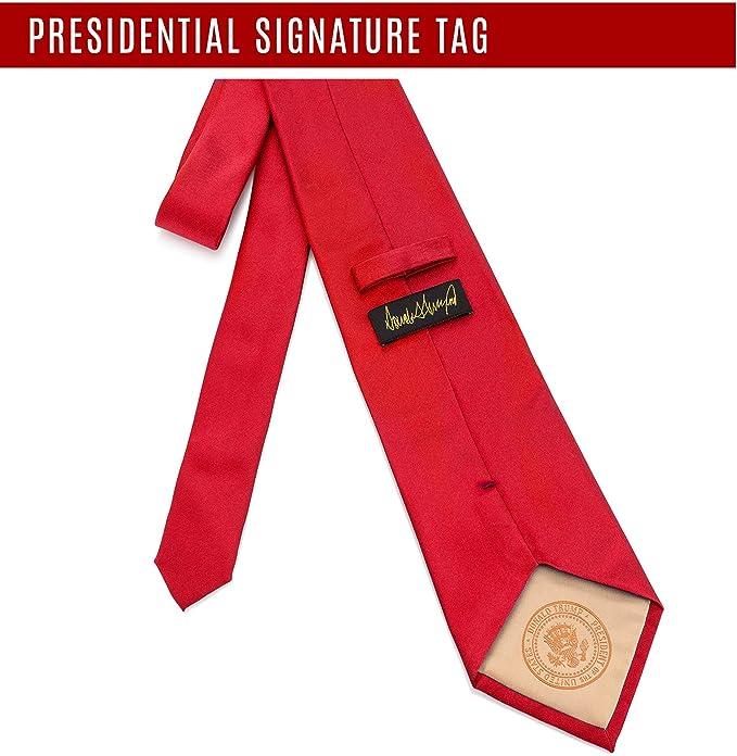 Donald J. Trump Signature Corbata de cuello rojo con sello ...