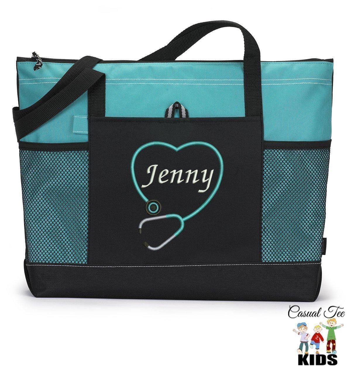 Amazon.com: Personalized Nurse, CNA, RN, LPN Tote Bag with Mesh ...